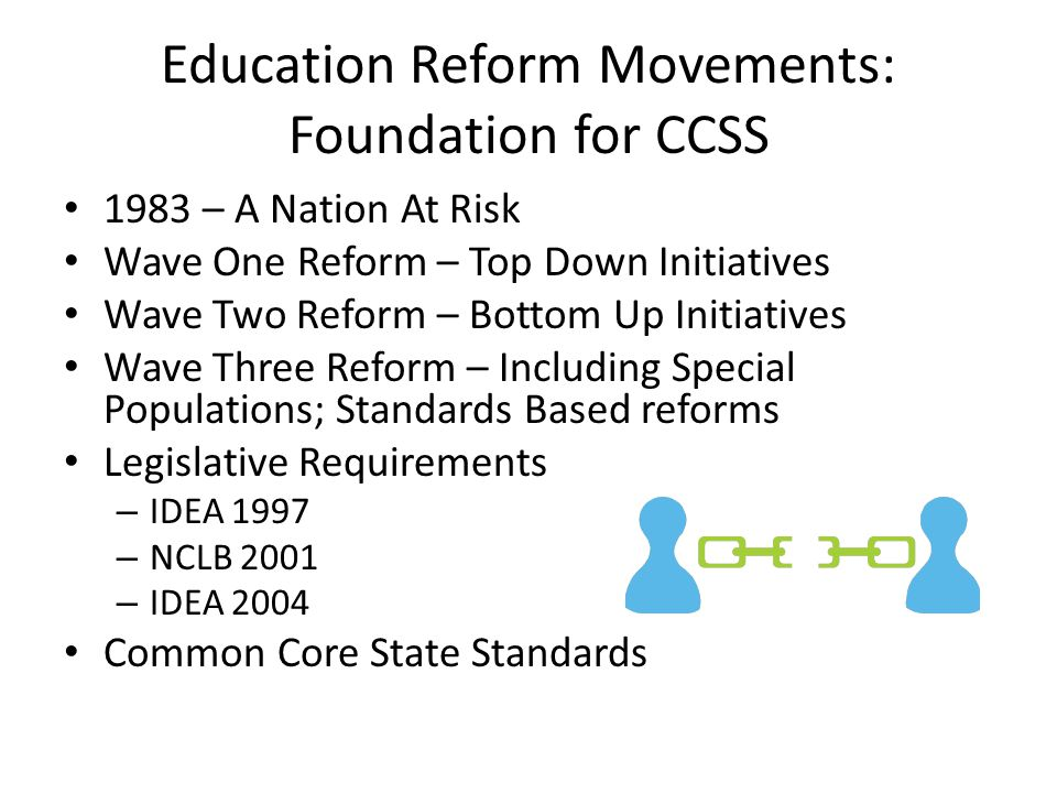 Education Reform Movements: Foundation for CCSS