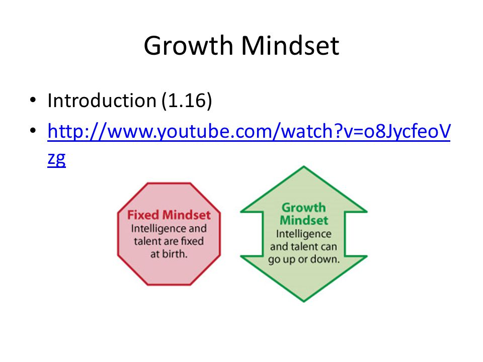 Growth Mindset Introduction (1.16)