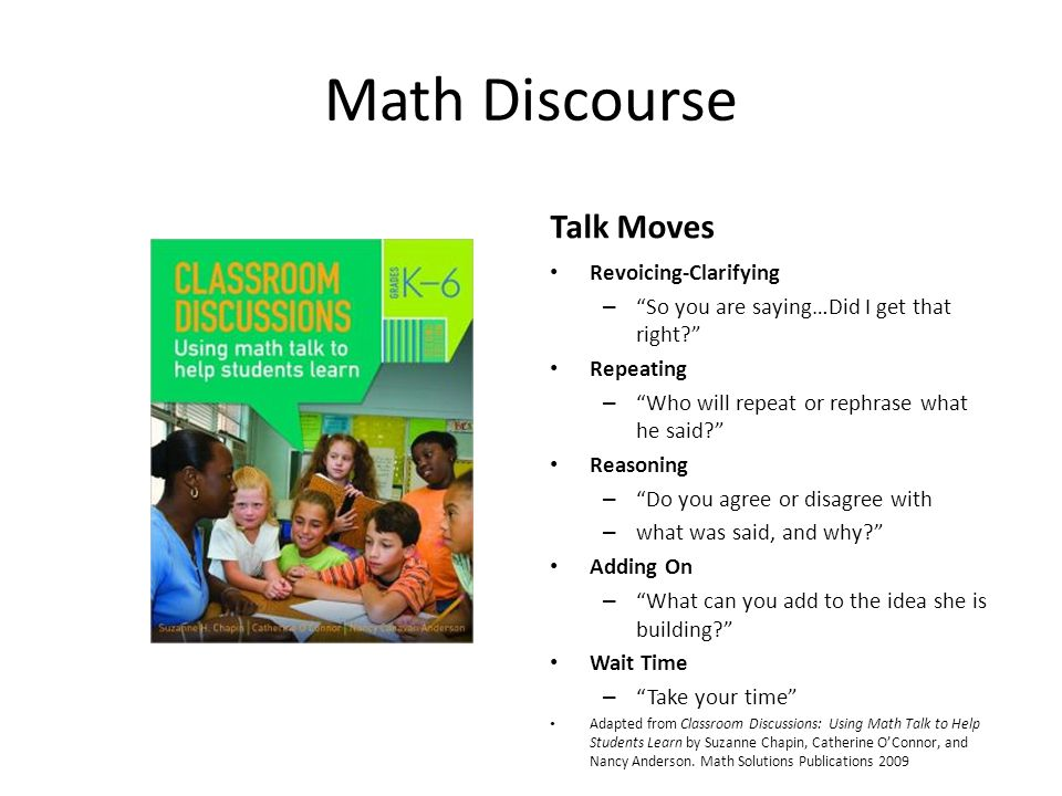 Math Discourse Talk Moves Revoicing-Clarifying