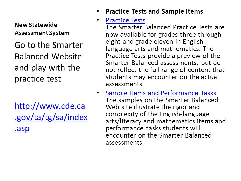 New Statewide Assessment System