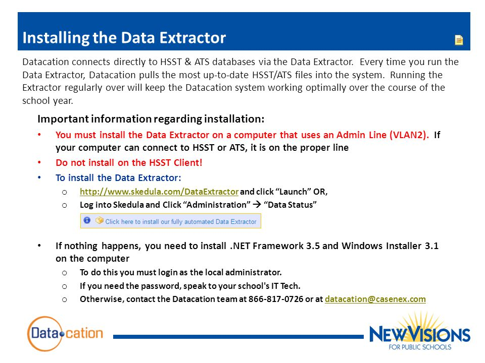 Installing the Data Extractor