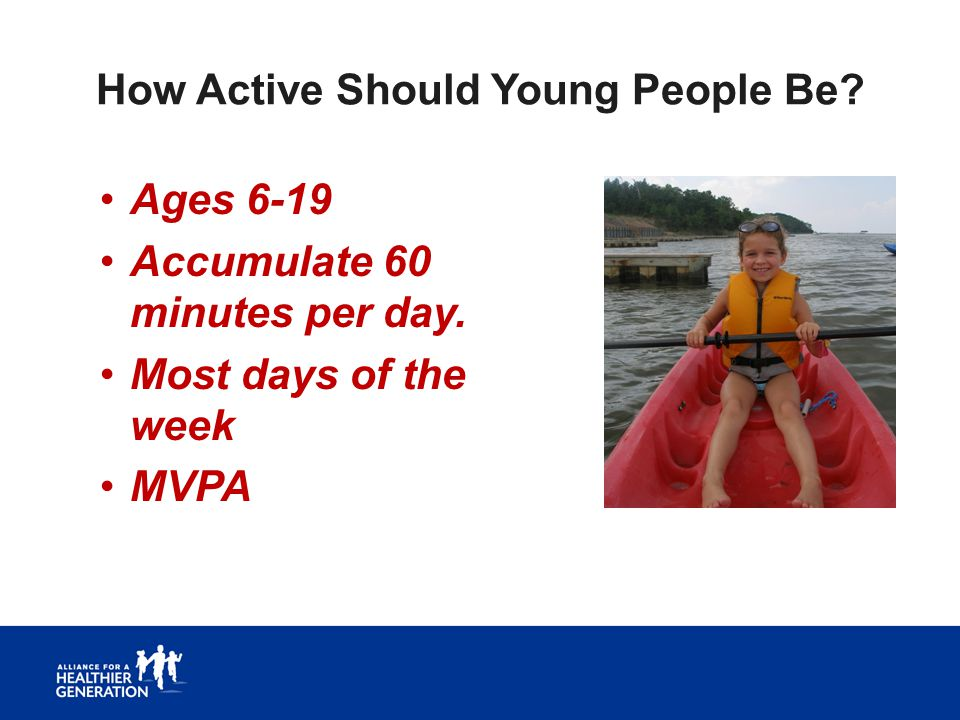 How Active Should Young People Be