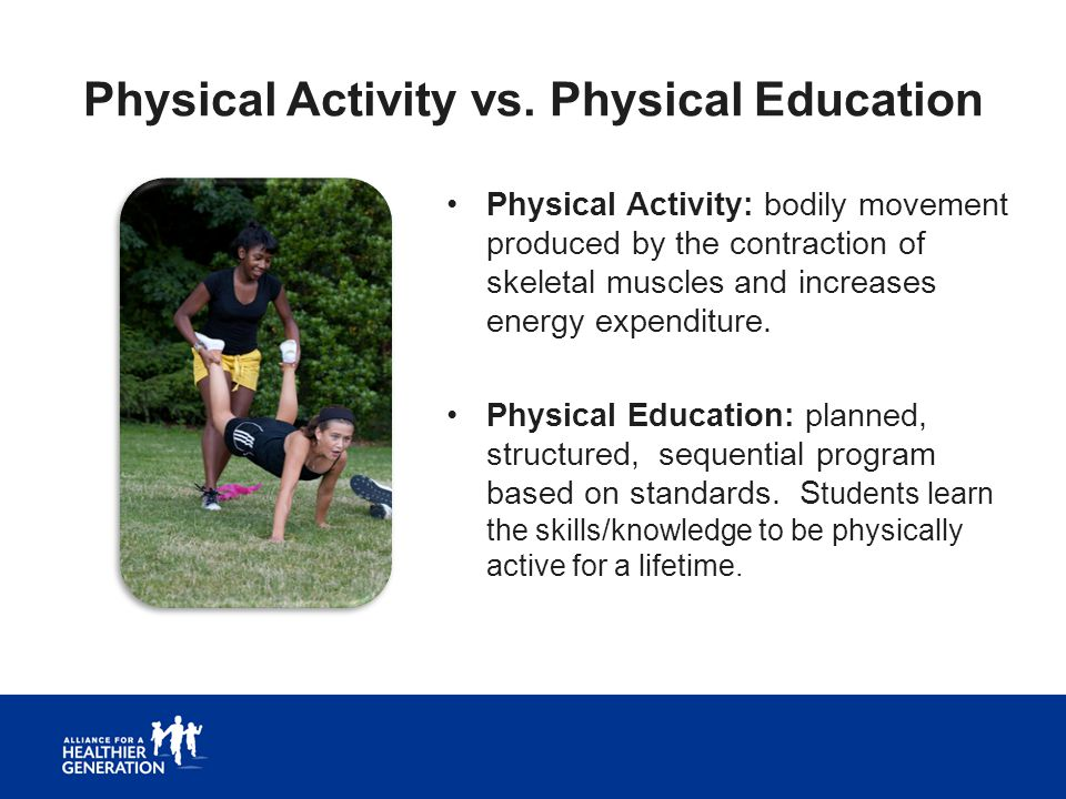 Physical Activity vs. Physical Education