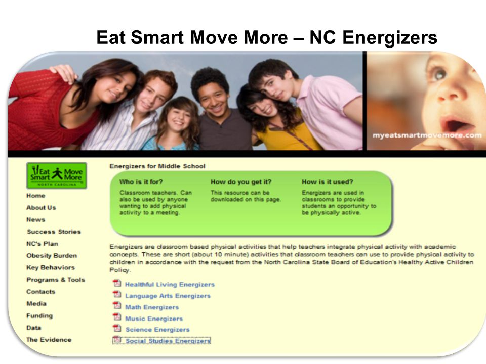 Eat Smart Move More – NC Energizers