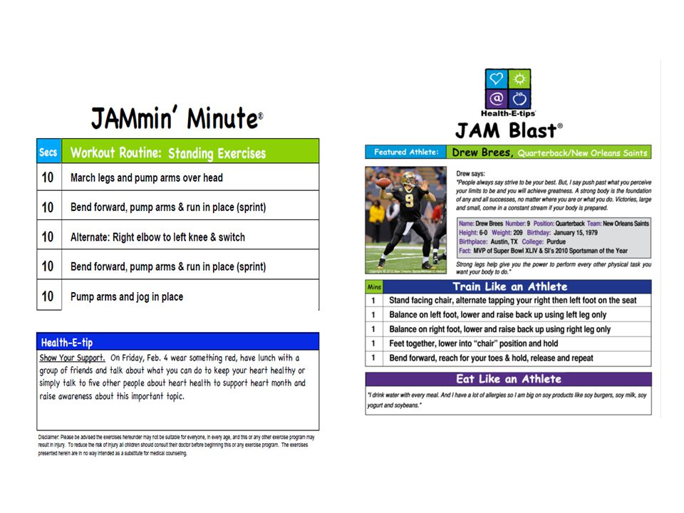 Have audience participate in a seated JAMmin' Minute