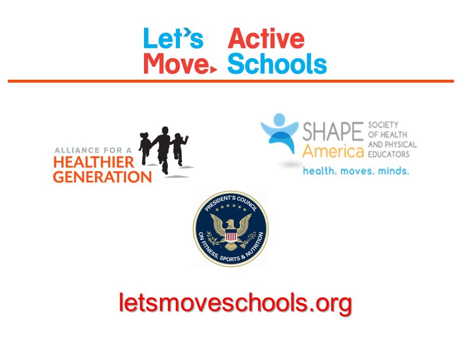 This presentation was created to introduce you to the Let's Move