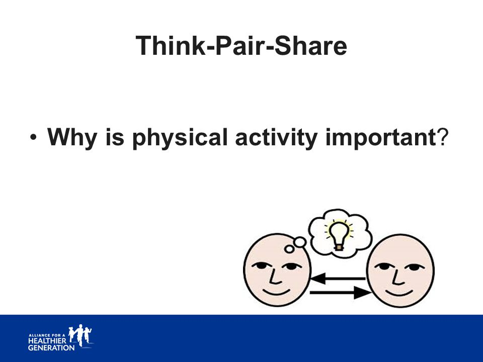 Think-Pair-Share Why is physical activity important