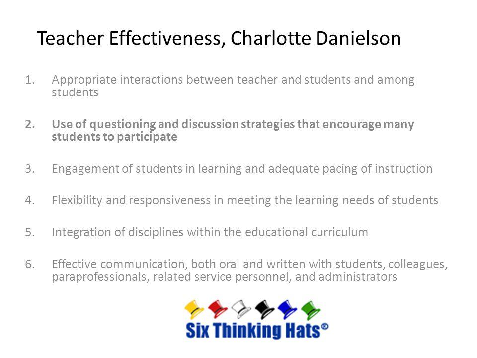 Teacher Effectiveness, Charlotte Danielson