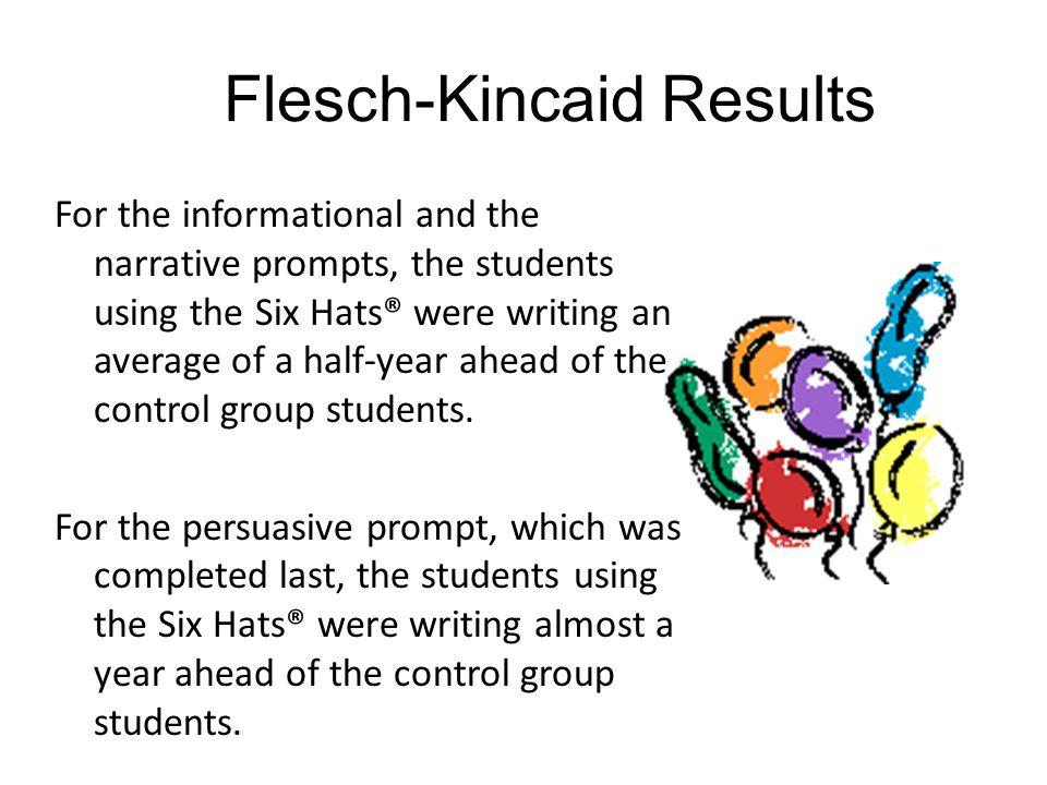 Flesch-Kincaid Results