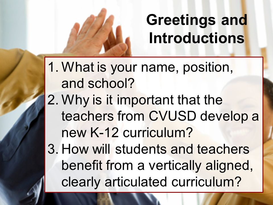 Rigorous curriculum design ppt download greetings and introductions pronofoot35fo Gallery
