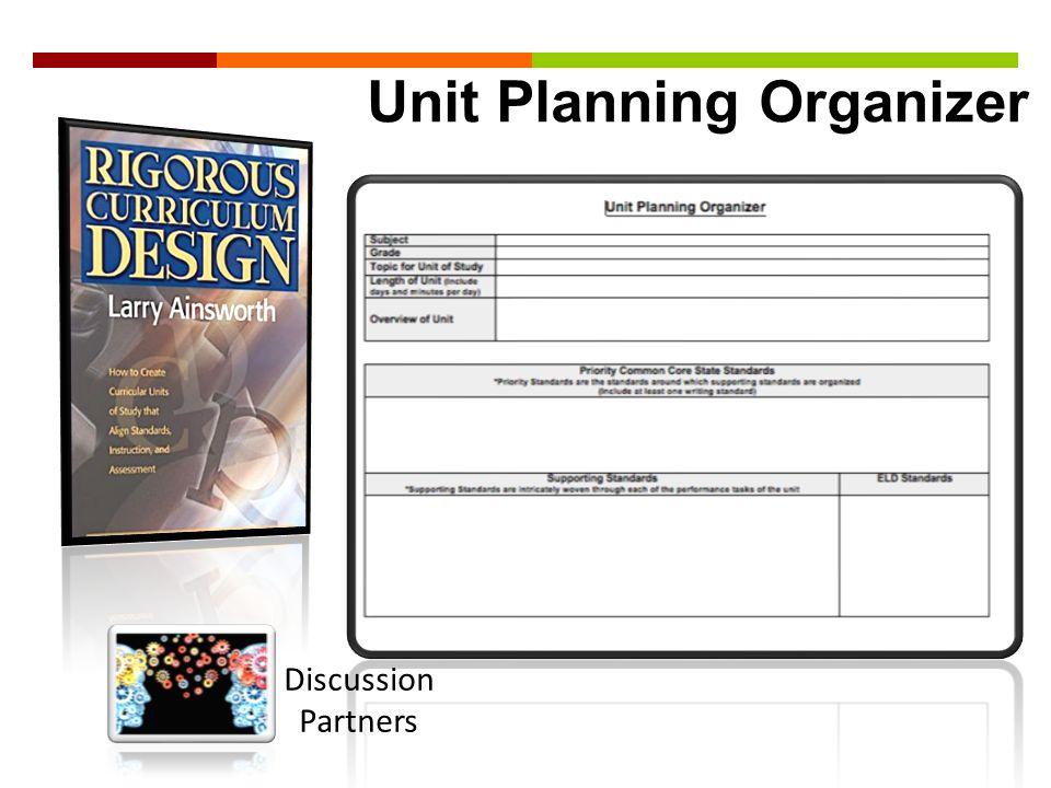 Unit Planning Organizer