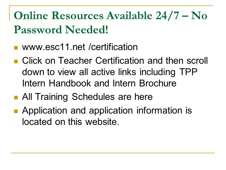 Online Resources Available 24/7 – No Password Needed!