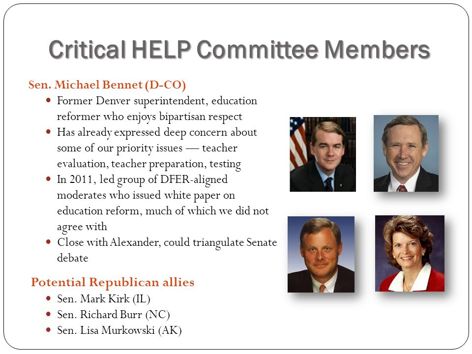 Critical HELP Committee Members