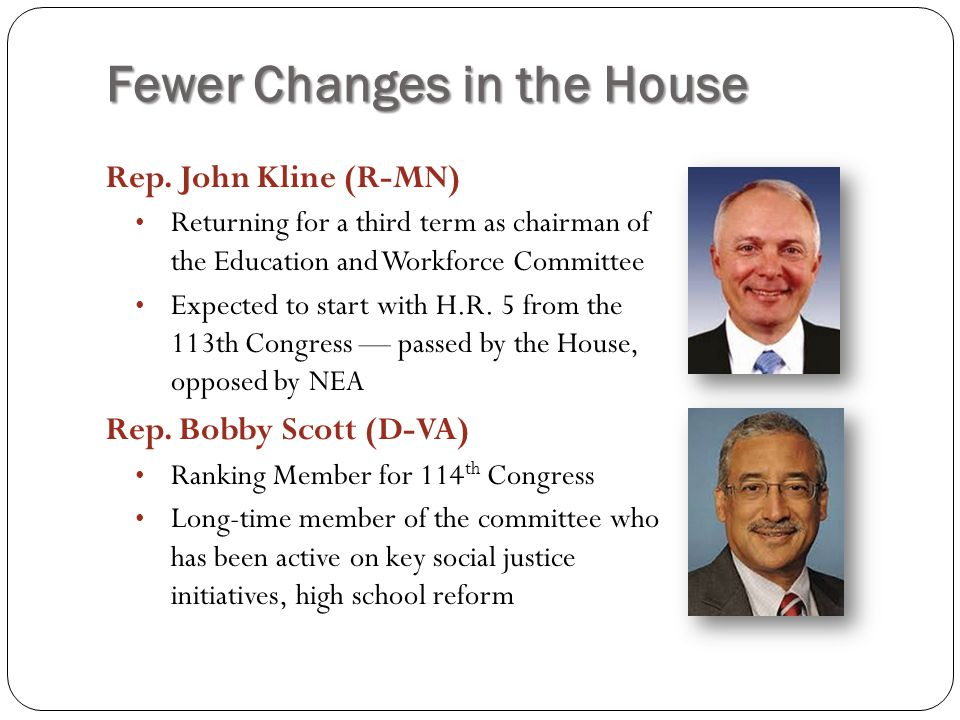 Fewer Changes in the House