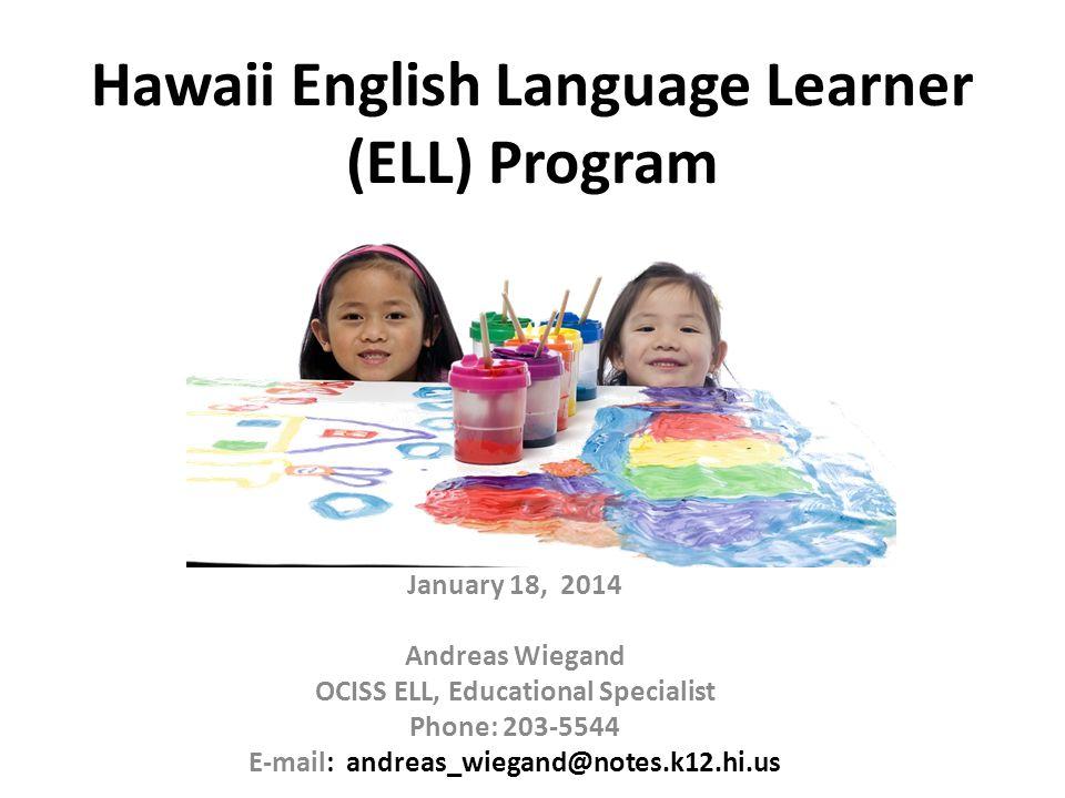 Hawaii English Language Learner (ELL) Program