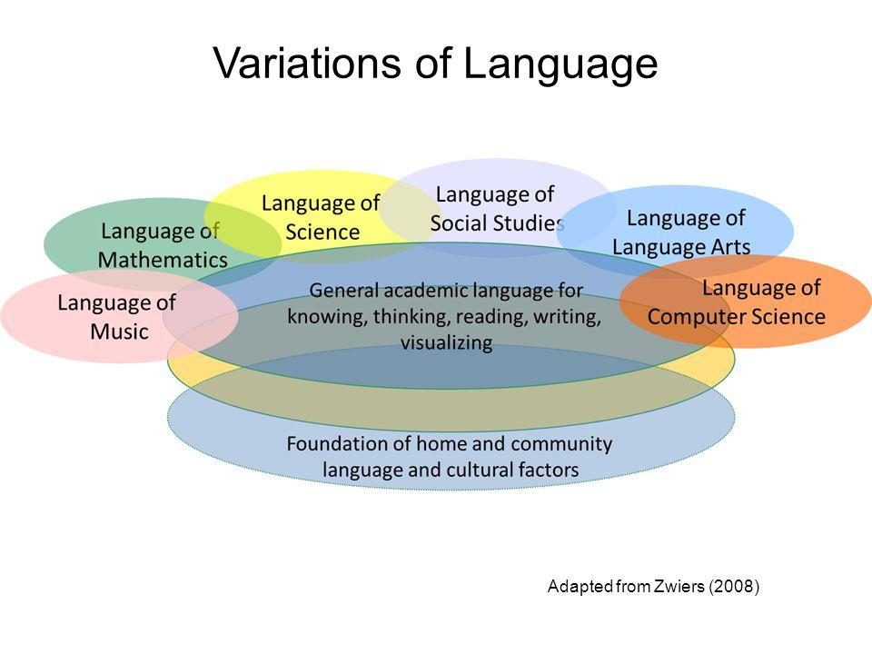 Variations of Language