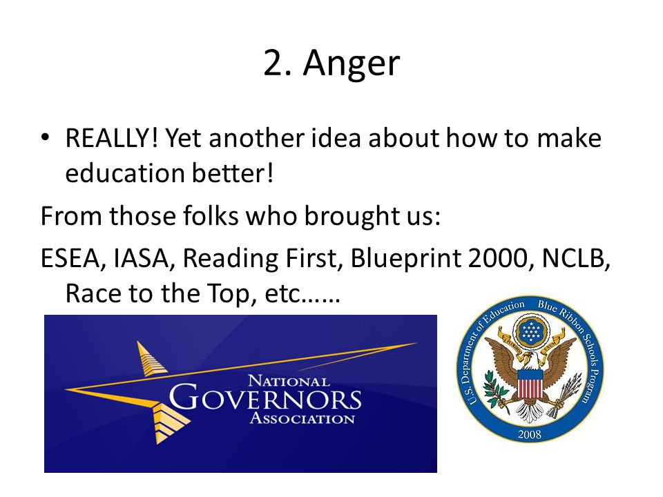 2. Anger REALLY! Yet another idea about how to make education better!