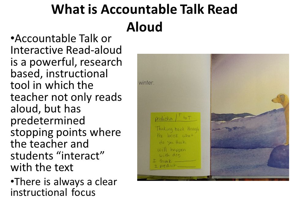 What is Accountable Talk Read Aloud