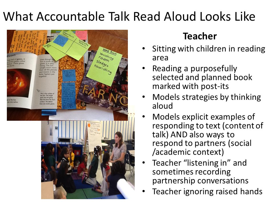 What Accountable Talk Read Aloud Looks Like