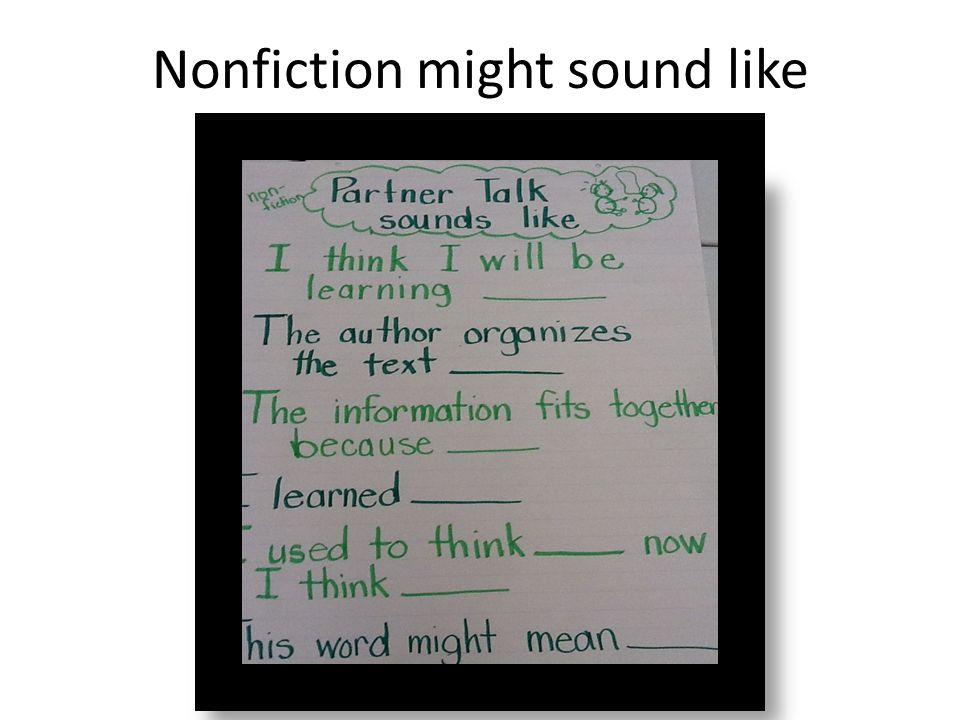 Nonfiction might sound like