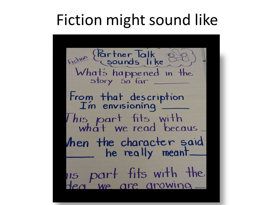 Fiction might sound like