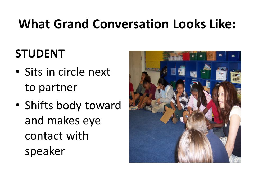 What Grand Conversation Looks Like: