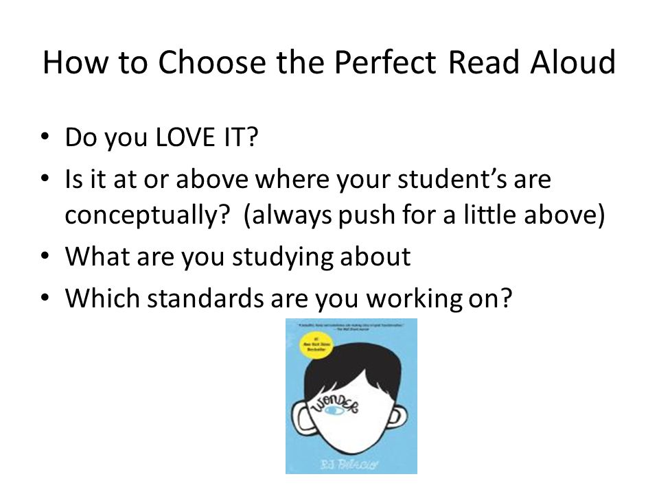 How to Choose the Perfect Read Aloud