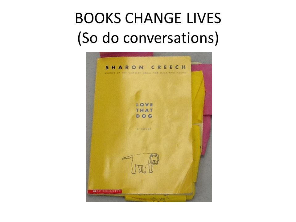 BOOKS CHANGE LIVES (So do conversations)