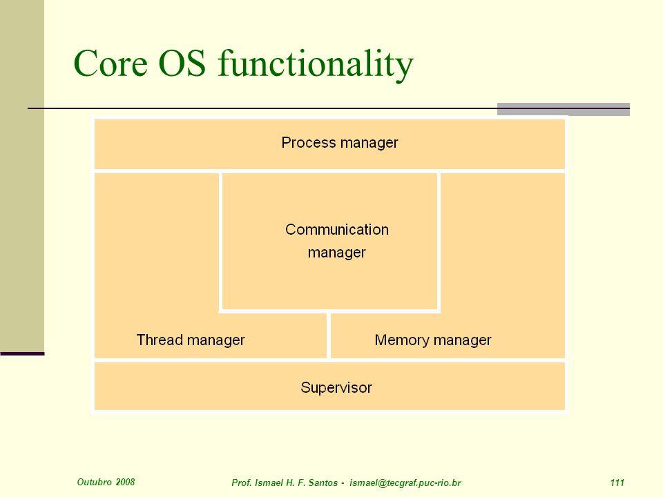 Core OS functionality Outubro 2008