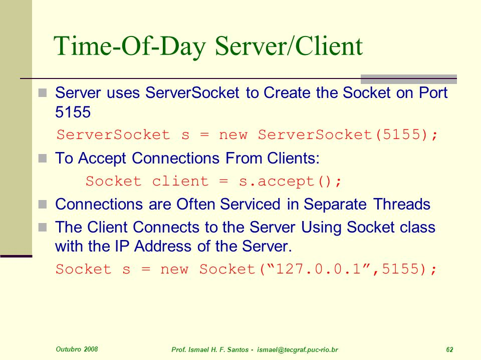 Time-Of-Day Server/Client