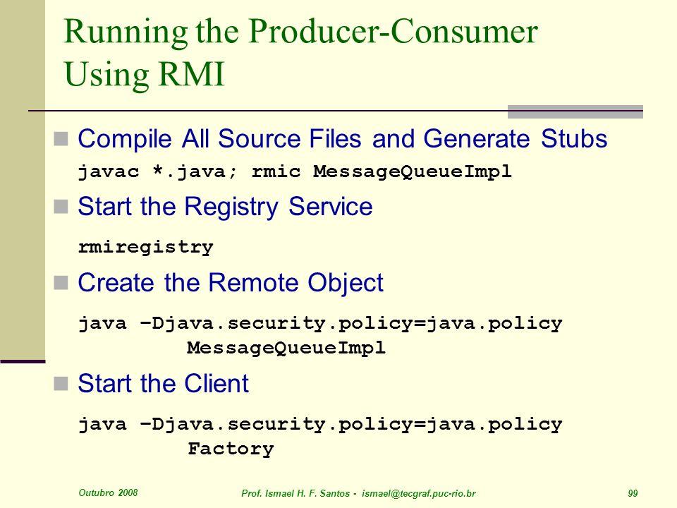 Running the Producer-Consumer Using RMI