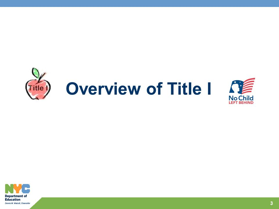 Overview of Title I