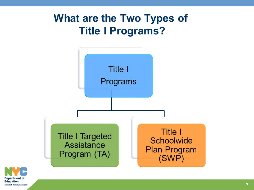 What are the Two Types of Title I Programs