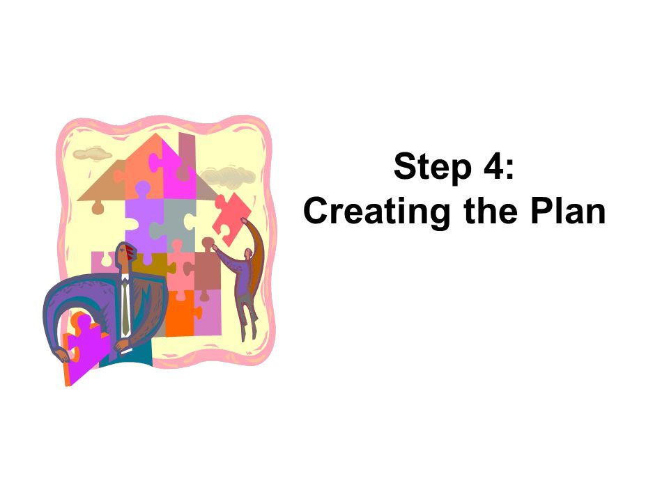 Step 4: Creating the Plan