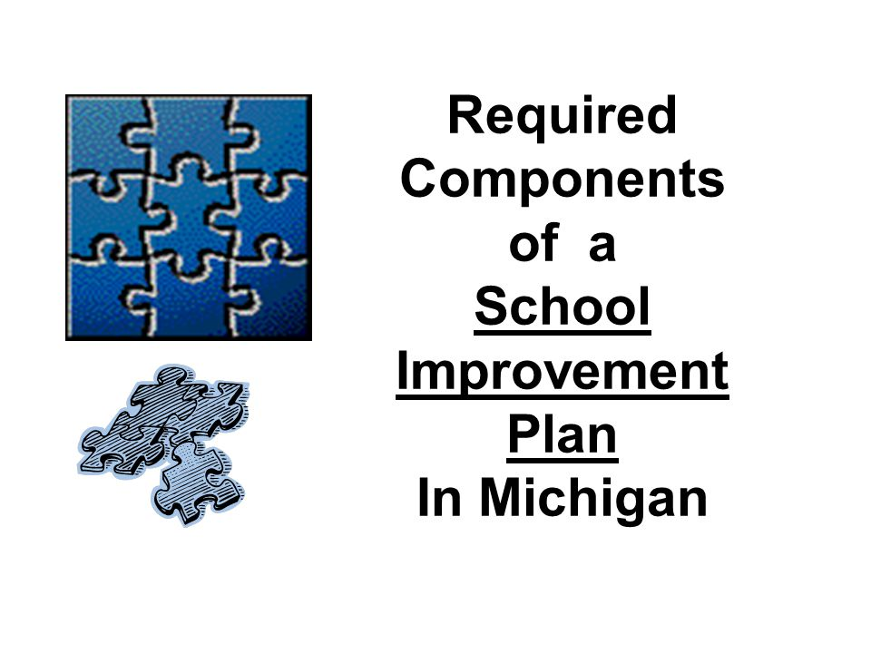 Required Components of a School Improvement Plan In Michigan