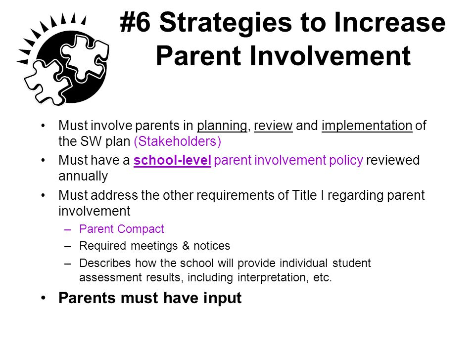 #6 Strategies to Increase Parent Involvement