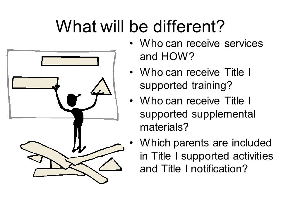 What will be different Who can receive services and HOW