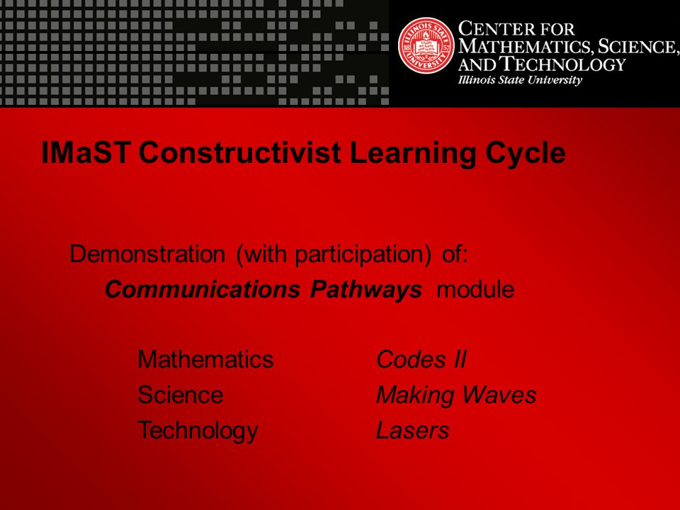 IMaST Constructivist Learning Cycle