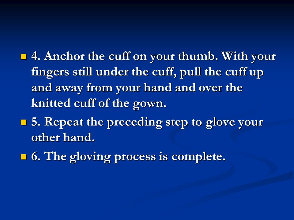 4. Anchor the cuff on your thumb