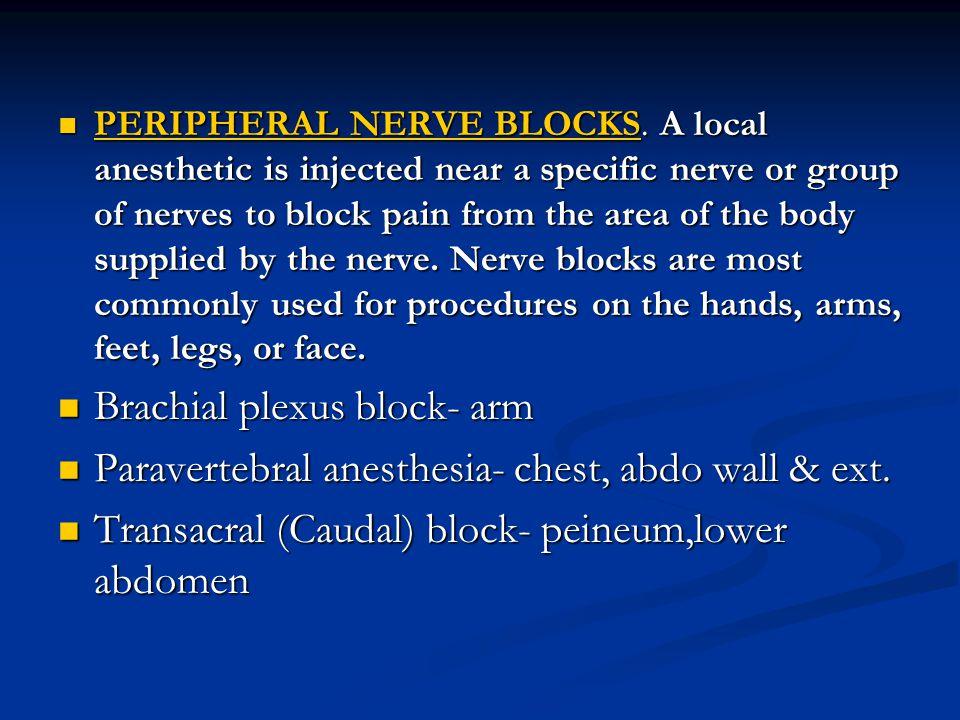 Brachial plexus block- arm