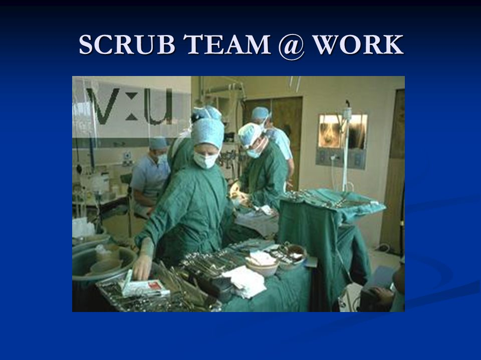 SCRUB TEAM @ WORK