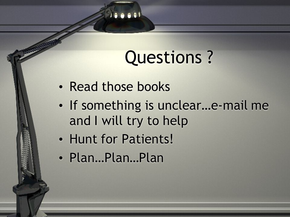 Questions Read those books