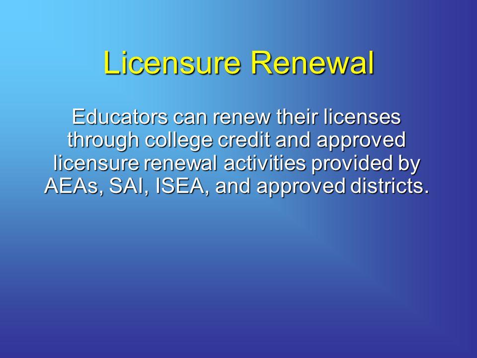 Licensure Renewal