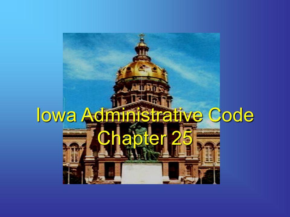 Iowa Administrative Code Chapter 25