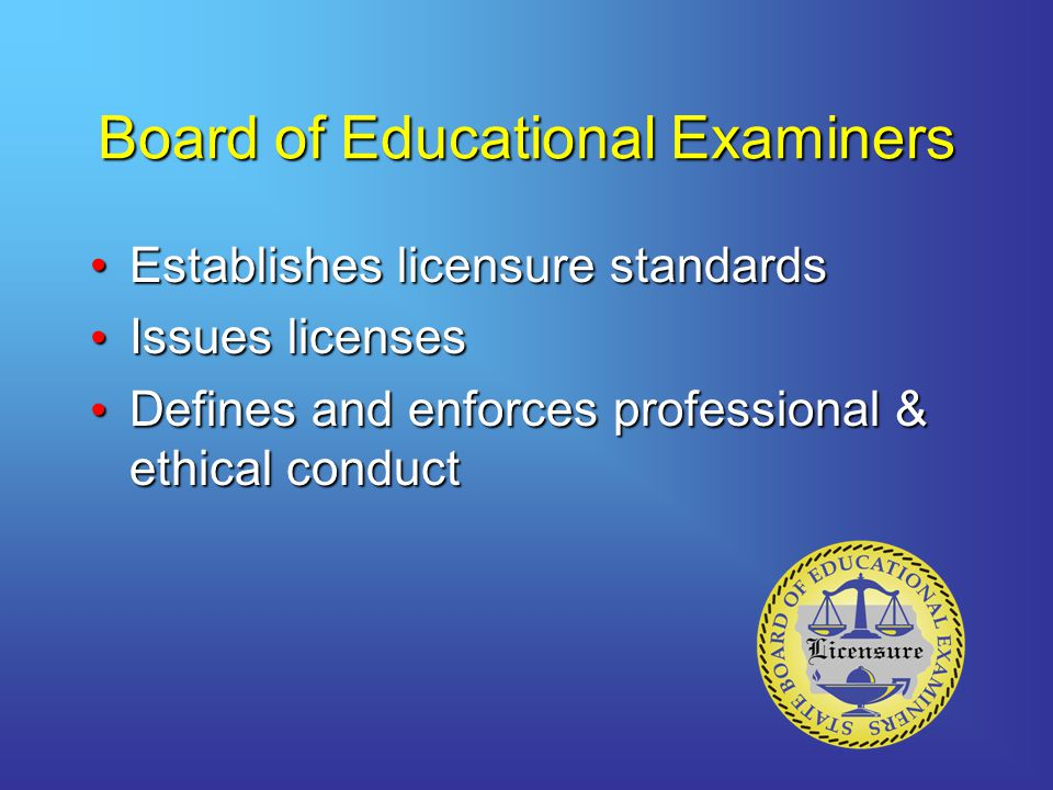 Board of Educational Examiners