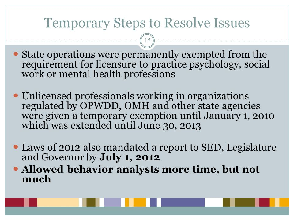 Temporary Steps to Resolve Issues