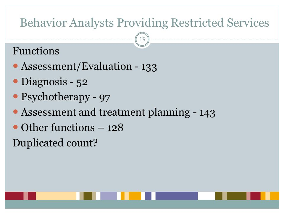 Behavior Analysts Providing Restricted Services
