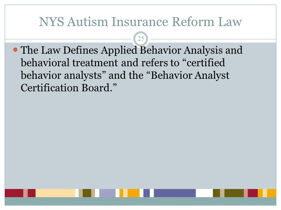 NYS Autism Insurance Reform Law