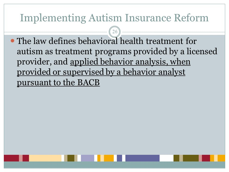 Implementing Autism Insurance Reform