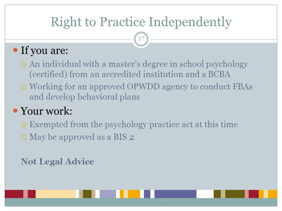 Right to Practice Independently
